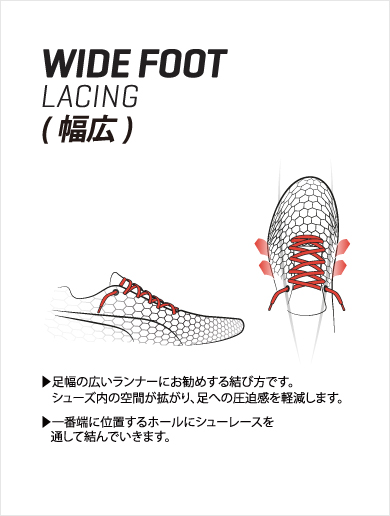 WIDE FOOT LACING