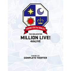THE IDOLM@STER MILLION LIVE! 4thLIVE TH@NK YOU for SMILE! LIVE Blu-ray COMPLETE THE@TER[LABX-38245/8][Blu-ray/ブルーレイ] 製品画像