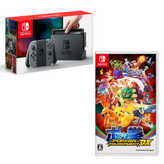 「Nintendo Switch 本体 グレー」&「ポッ拳 POKKEN TOURNAMENT DX」