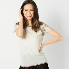 JERS_LACE SLEEVE T-SHIRT ニットプルオーバー
