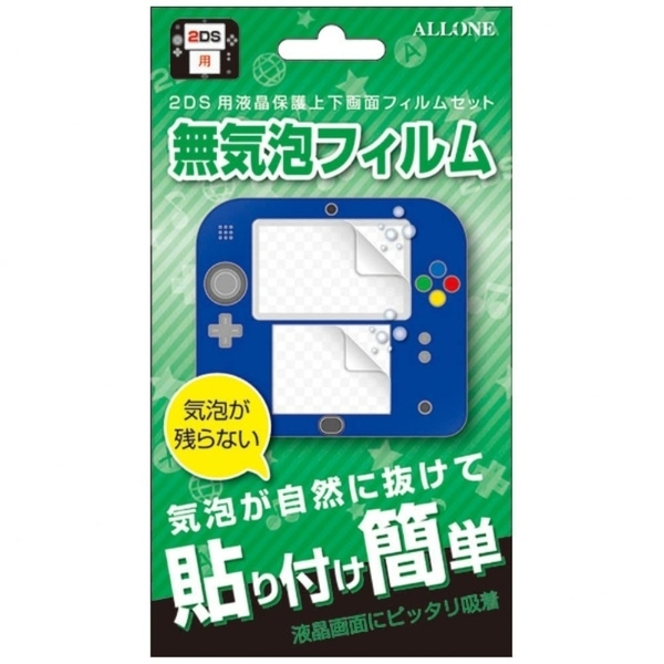 ALLONE2DS用画面保護フィルム無気泡タイプ