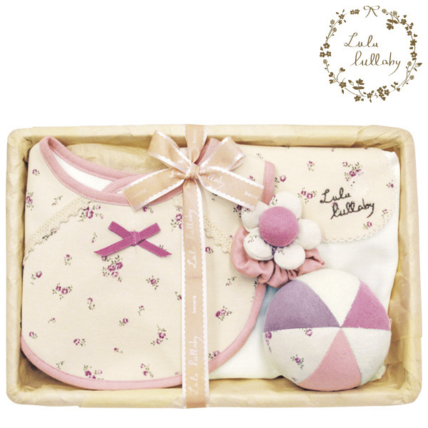 Lulu lullaby 出産お祝い 花リストセット LS-11 ピンク