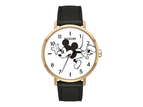 ARROW LEATHER GOLD/BLACK/MICKEY NA10913095-00 ユニセックス腕時計