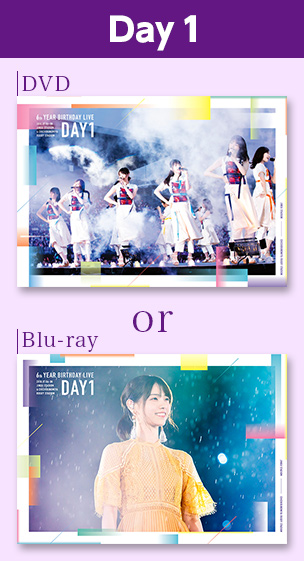 6th YEAR BIRTHDAY LIVE  Day1 DVD or Blu-ray