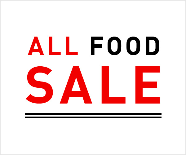 ALL FOOD SALE