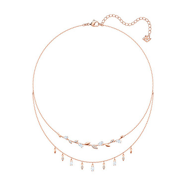 MAYFLY:NECKLACE LAYERED CZWH/CRY/ROS