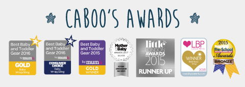 CABOO'S AWARDS  caboo carrier  Best Baby and Toddler Gear 2016 by mumii GOLD Baby Wrap/Sling、Best Baby and Toddler Gear 2016 by mumii CONSUMER CHOICE Baby Wrap/Sling、Best Baby and Toddler Gear 2015 by mumii GOLD WINNER、MOTHER & BABY AWARDS 2017 SILVER BEST BABY CARRIER/SLING OR BACK CARRIER、little LONDON AWARDS 2015 RUNNER UP、LBP LOVED BY PARENTS WINNER Best Baby Sling 2015、2015 Practical Pre-School Awards BRONZE