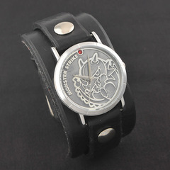モンスターストライク × Red Monkey Designs Collaboration Wristwatch レッドドラゴン Model Ladies'/BLACK