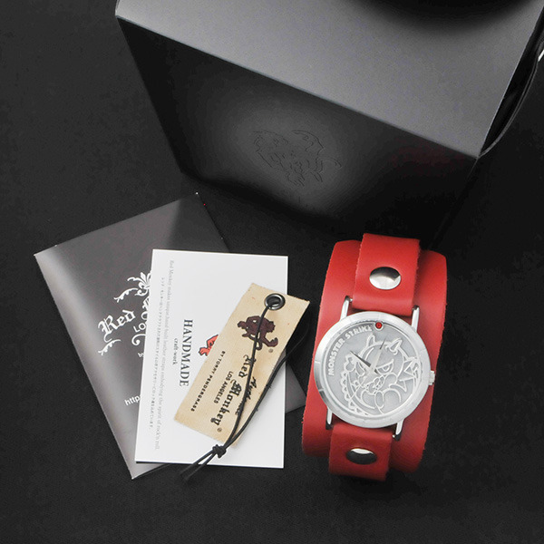 モンスターストライク × Red Monkey Designs Collaboration Wristwatch レッドドラゴン Model Ladies'/CHERRY