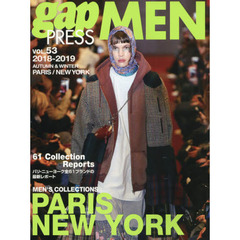 gap PRESS MEN vol.53(2018-2019Autumn & Winter) PARIS,NEW YORK MEN'S COLLECTIONS