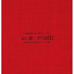 G-DRAGON (from BIGBANG)/G-DRAGON 2017 WORLD TOUR <ACT III,M.O.T.T.E> IN JAPAN<2DVD+2CD+PHOTO BOOK>(スマプラ対応)