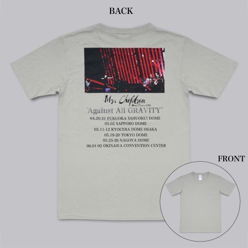 "Mr.Children Dome Tour 2019 ""Against All GRAVITY""/ツアービジュアルポケットTシャツ (SILVER GRAY) Mサイズ"