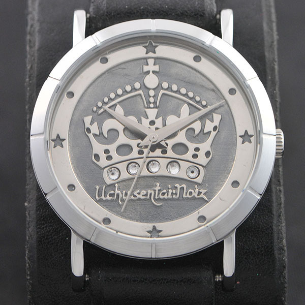 UCHUSENTAI:NOIZ × Red Monkey Designs Collaboration Wristwatch Silver925 High-End UNISEX / BLACK
