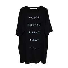 【MARDI GRAS】long length big t-shirt『four word A』(BLACK)