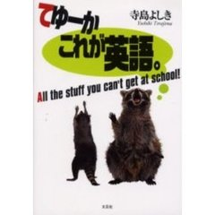 てゆーかこれが英語。 All the stuff you can't get at school!