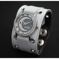 Cyntia x red monkey designs Collaboration Wristwatch(ホワイト)