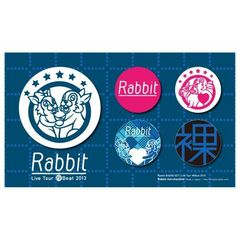 Rabbit BADGE SET/Rabbit Live Tour 裸Beat 2013 グッズ