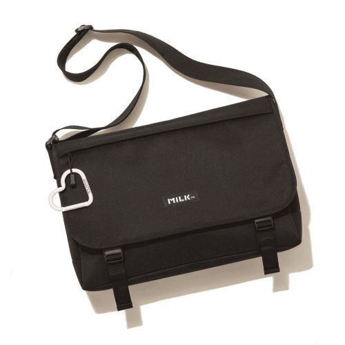 MILKFED. SPECIAL BOOK Big Messenger Bag BLACK 画像