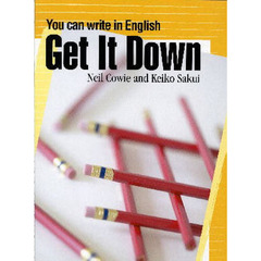 Get It Down : You can write in English Student Book (84 pp)