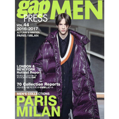 gap PRESS MEN vol.44(2016-2017Autumn & Winter) PARIS,MILAN MEN'S COLLECTIONS