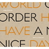 WORLD ORDER/HAVE A NICE DAY 初回限定版(Blu-ray Disc)