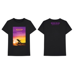 映画『ボヘミアン・ラプソディ』 Sunset Bohemian Rhapsody Movie T-Shirt Black M