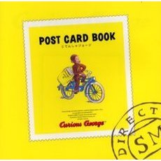 Curious George post card book じてんしゃジョージ
