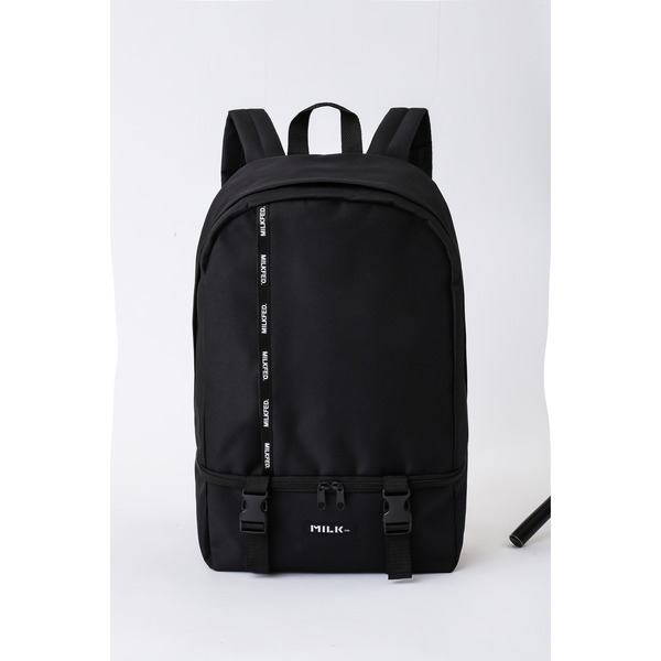 MILKFED. LOGO TAPE BACKPACK BLACK ver. 画像