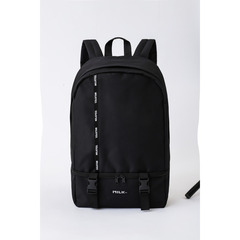 MILKFED. LOGO TAPE BACKPACK BLACK ver.
