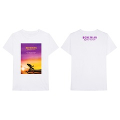 映画『ボヘミアン・ラプソディ』 Sunset Bohemian Rhapsody Movie T-Shirt White L