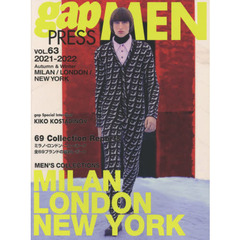 gap PRESS MEN vol.63(2021-2022Autumn & Winter) MILAN,LONDON,NEW YORK MEN'S COLLECTIONS