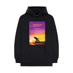 映画『ボヘミアン・ラプソディ』 Sunset Bohemian Rhapsody Movie Hoodie Black S