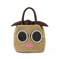 a-jolie PEARL BASKET BAG BOOK BLACK