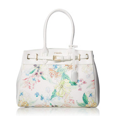 FRILL ROSE FLOWER PRINT BELT TOTE M