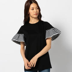 BORDERS at BALCONY GATHERED SLEEVES TEE