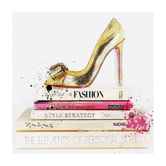 ポップアート GOLD SHOE AND FASHION BOOKS
