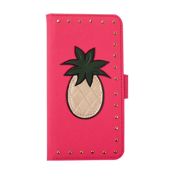 Pink with Golden Pineapple and Studs