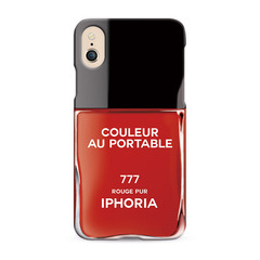 Nailpolish Vernis Rouge for iPhone X