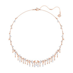MAYFLY:NECKLACE LRG CZWH/CRY/ROS