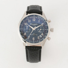 Vintage style Chronograph Sliver case blk dail Blk Buffalo - SILVER / 40mm