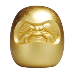 Reborn(ダルマ ゴールド) Daruma doll Platinum gold leaf