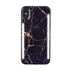 DUO iPhone X/XS - Metallic Rose Black Marble