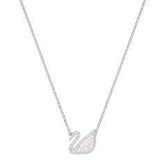 ICONIC SWAN:NECKLACE MP CRYWHITE/RHS