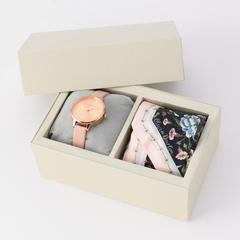 Scarf Tie Gift Set Demi Dial Dusty Pink & Rose Gold