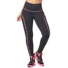 ZUMBA(ズンバ) Zumba High Waisted Piped Ankle Leggings