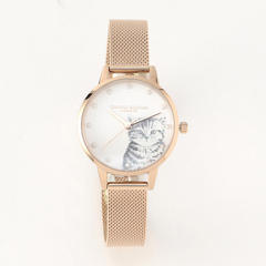 Illustrated Animals - Pearly Kitten RG Mesh 30mm