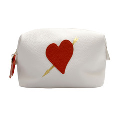 Washbag - White Big Heart