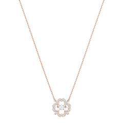SPARKLING DC:NECKLACE FLOWER CZWH/ROS