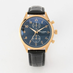 Small Chronograph YG case blk dial Blk Croco - YELLOW GOLD / 40mm