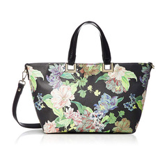 FRILL ROSE FLOWER PRINT TOTE S